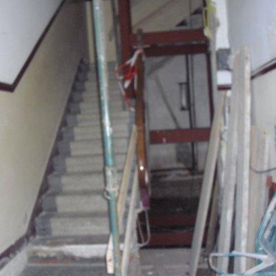 Instalación de ascensor interior (antes)