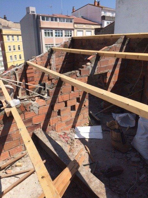 Impermeabilización de cubierta Calle Arenal Coruña 3