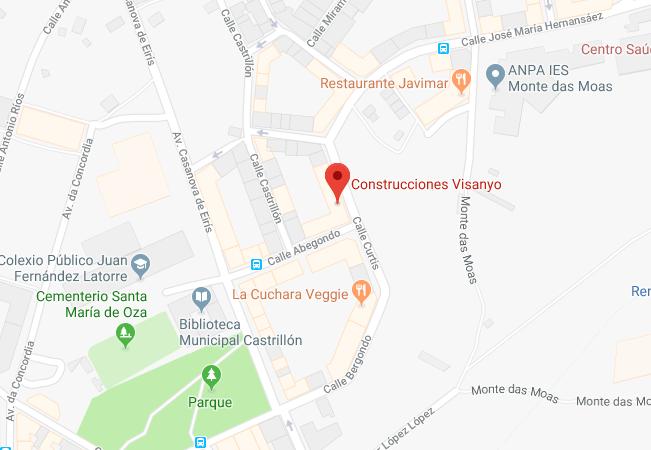 Mapa Google Visanyo